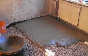 стяжка с цементного раствора