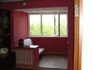 Ремонт балкона и комнаты